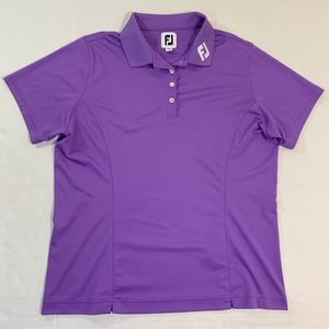 Women's FootJoy Golf Polo Shirt Logo Purple L